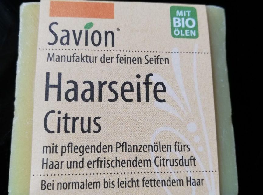 Produkttest: Haarseife Citrus von Savion