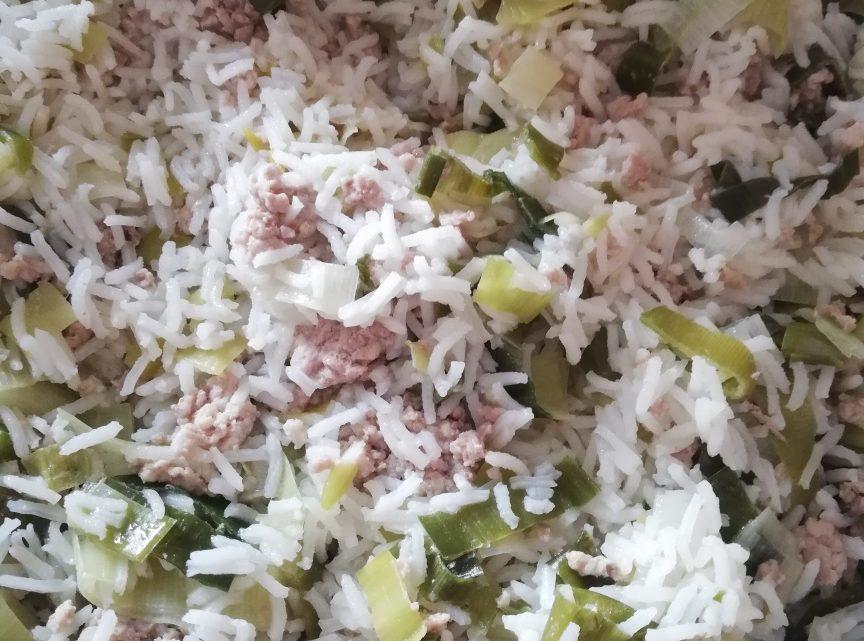 Vitalzeitrezept 5: Hackfleisch, Lauch, Reis