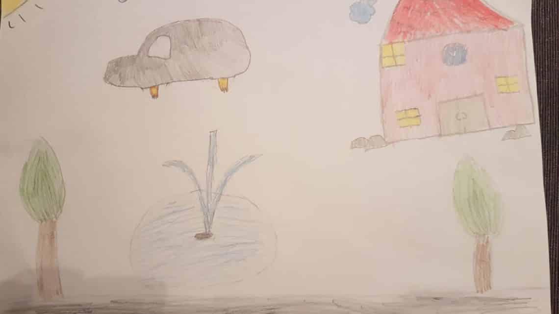 """Malwettbewerb Platz 1 """"Kinder"""": Clara-Sopie, 8 Jahre"""